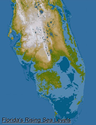 Rising Sea Levels The Environmental EZine - Water rising map